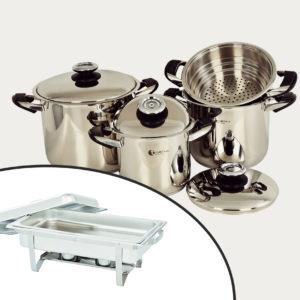 7pc Tissolli PLus & Single Chafing Dish